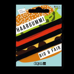 Haargummi – Bio & Fairtrade Haarelastiekjes (zwart)